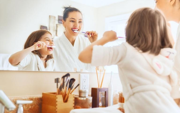 Higiene dental en los niños pequeños
