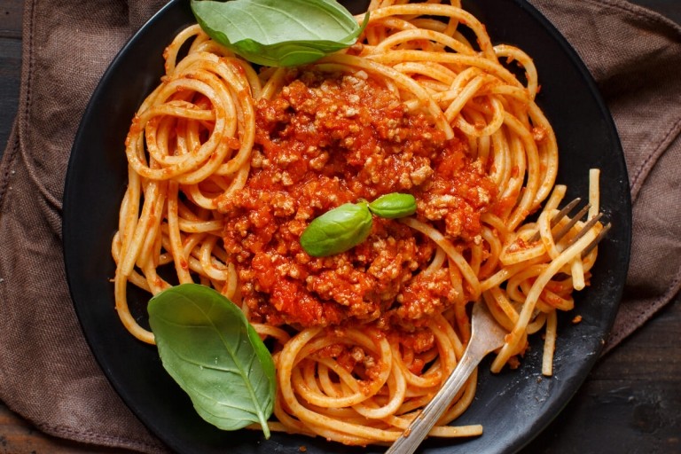 Receta Espaguetis la boloñesa
